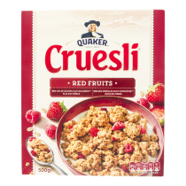 Cruesli Quaker rode vruchten 500 gram
