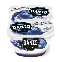 Danio luchtige kwark bosbes 2 x 125 gram