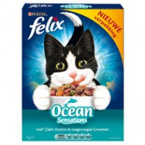 Kattenvoer Felix Ocean sensations zalm/koolvis/groenten pak 1000 gram