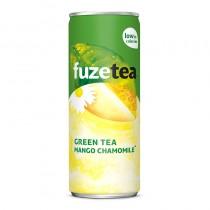 Icetea Fuze tea mango chamomile tray blikjes 24 x 25 cl