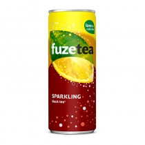 Icetea Fuze tea sparkling tray blikjes 24 x  25 cl