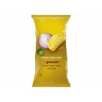 G'woon chips cheese onion 225 gram