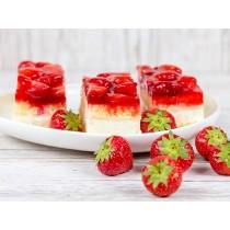 Gluten en lactose arm aardbei gebakje (Banketbakker)