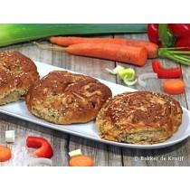Groente broodje vers per stuk