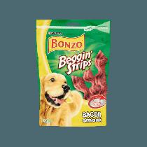Hondenvoer Bonzo beggin strips bacon 120 gram