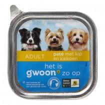 Hondenvoer G'woon kip & kalkoen 150 gram