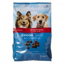 Hondenvoer G'woon zachte brokken 1500 gram