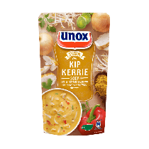 Kip kerriesoep Unox  in zak 570 ml.