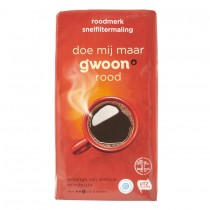 Koffie G'woon snelfilter rood 500 gram