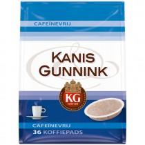 Koffiepads cafeïnevrij Kanis & Gunnink 36 stuks