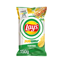 Lay's Subway Teriyaki Ribbelchips 150 gram