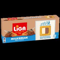 Liga milkbreak chocolade melk 6x2biscuits 245 gram