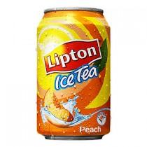 Lipton Icetea no bubbles peach blikjes 24 x 0,33L
