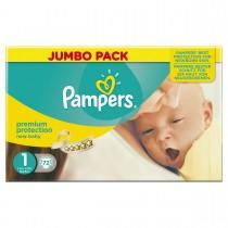 Luiers Pampers 1 new born mini 2-5 kg 72 stuks