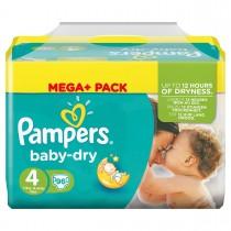 Luiers Pampers nr4 baby dry maxi 7-18KG 96 stuks