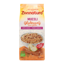 Muesli glutenvrij appel kaneel Zonnatura 375 gram