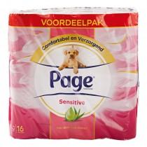 Page toiletpapier sensitive 16 rollen