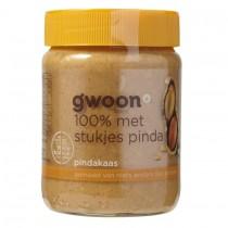 Pindakaas G'woon met stukjes pinda 350 gram