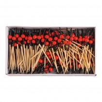 Prikker bamboe met bol doos 250 stuks