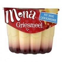 Pudding mona gezins griesmeel met rodebessen saus 500 gram