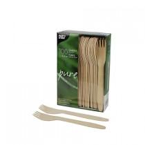 Papstar pure houten vorken 100 stuks