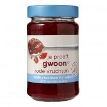 Rode vruchten halvajam G'woon 320 gram