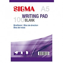 Schrijfblok Sigma A5 5 x 100 vel blank