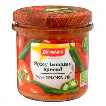 Spicy tomaten spread Zonnatura 135 gram