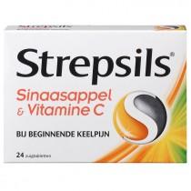 Strepsils sinaasappel & vitamine C 24 stuks