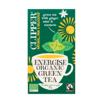 Thee Clipper energise green tea pakje