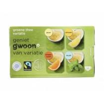 Thee G'woon groene variatie thee pakje 20 x 2 gram