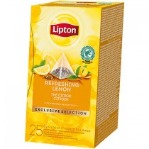 Thee Lipton exclusive selection refreshing lemon 25 stuks
