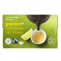 Thee G'woon  groene thee met citroen 20 zakjes