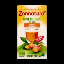 Groene thee met gember Zonnatura 34 gram