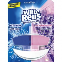 Toiletblok Witte reus duo actief wc reiniger en luchtverfrisser lavendel 50ml