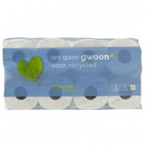 Toiletpapier recycled 3 laags G'woon 8 rollen