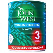 Tonijnstukken John West in water 435 gram