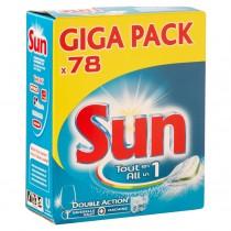 Vaatwastabletten Sun All-in-1 78 stuks