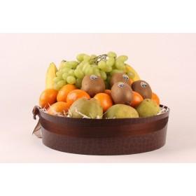 Fruitmand werkfruit small met een divers assortiment vers fruit
