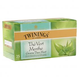 Thee Twinings green tea & mint 25 zakjes