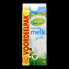 Halfvolle melk Campina 1,5L