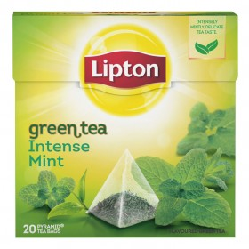 Thee Lipton Green tea intense mint 20 zakjes