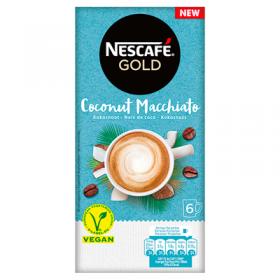 Nescafe coconut macchiato instant koffie 6 x 15 gram