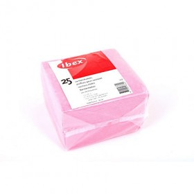 Sanitairdoekjes Ibex roze 25 stuks