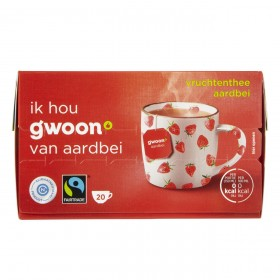 Thee G'woon aardbei 20 zakjes