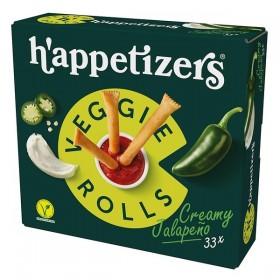 Topking Veggie rolls creamy jalapeño 33 x 17 gram