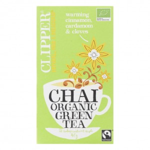 Clipper chai organic green tea pakje