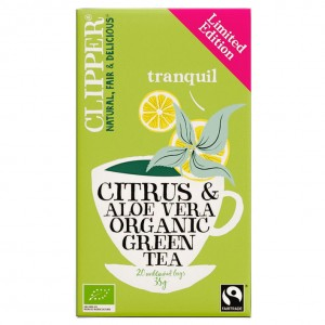 Clipper thee citrus & aloe vera organic green tea pakje