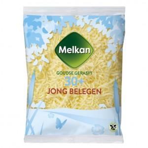 Melkan jong belegen geraspte kaas 30+ 175 gram