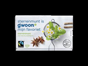 Sterren munt thee G'woon pakje 20 zakjes (Fairtrade)